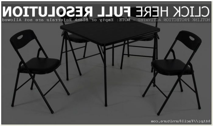 Cosco Folding Table And Chairs Black