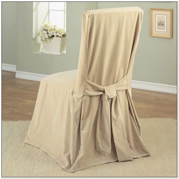 Cotton Velvet Dining Chair Slipcover