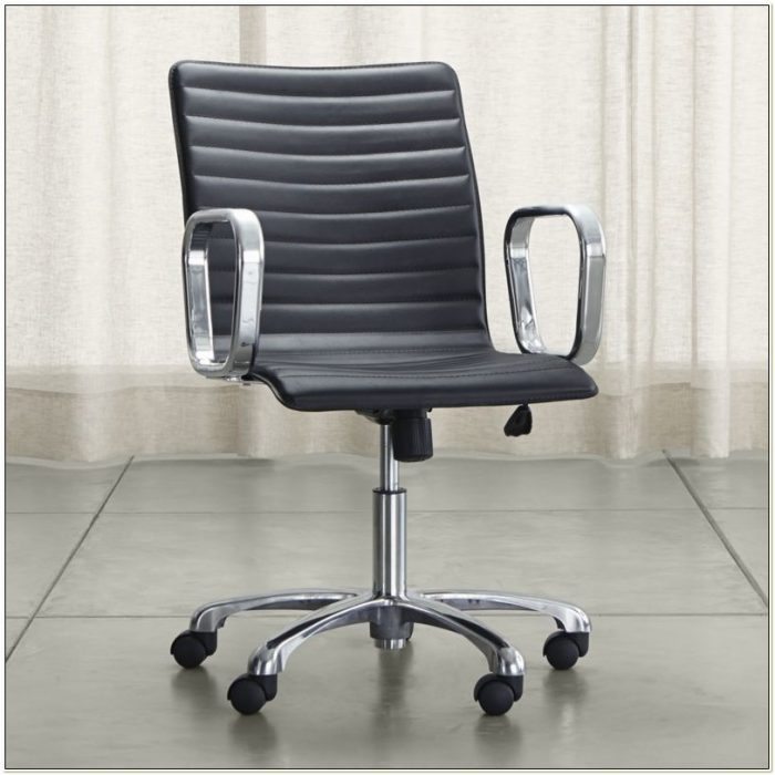 Crate And Barrel Ripple Leather Office Chair