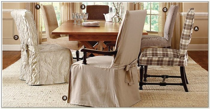 Damask Dining Room Chair Slipcover