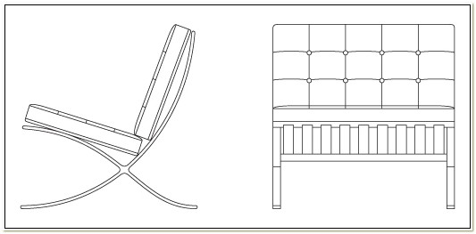 Dimensions Of Barcelona Chair