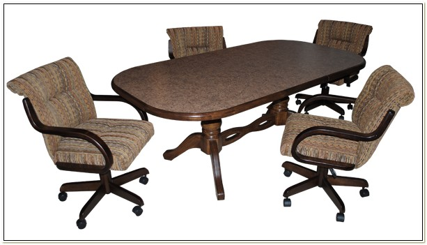 Dinette Set With Caster Chairs