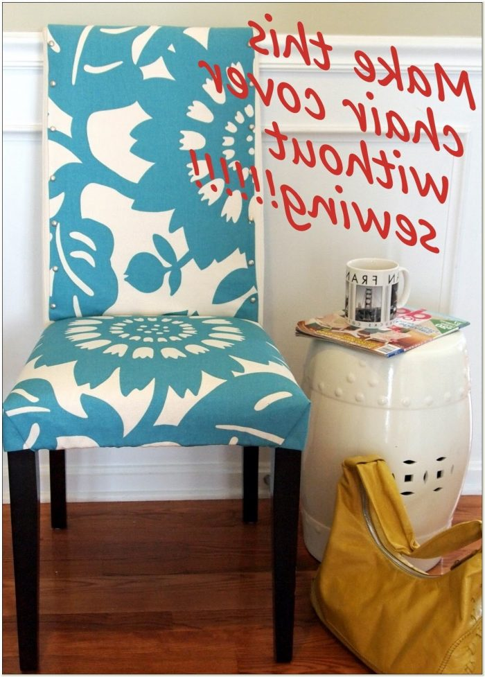 Diy No Sew Dining Room Chair Covers