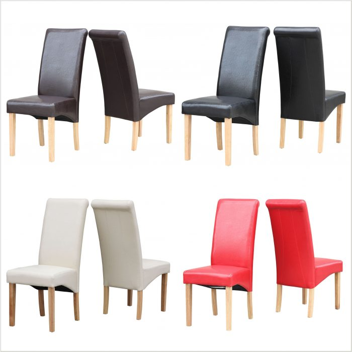 Ebay Red Leather Dining Chairs