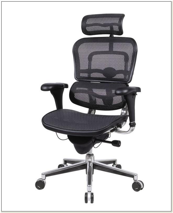 Ergohuman Mesh Ergonomic Chair With Headrest Black