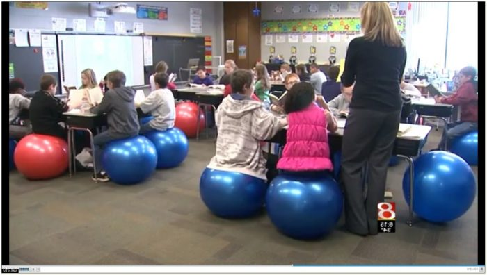 Exercise Balls As Chairs