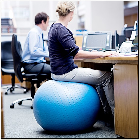 Exercise Balls As Office Chairs