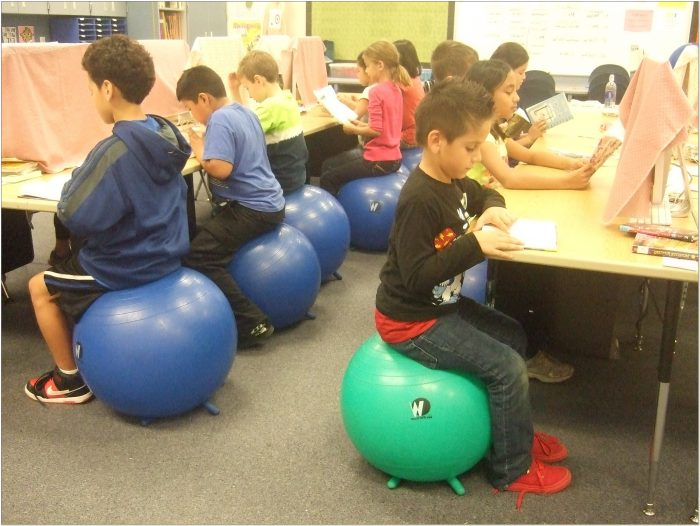 Exercise Balls For Chairs In Classroom