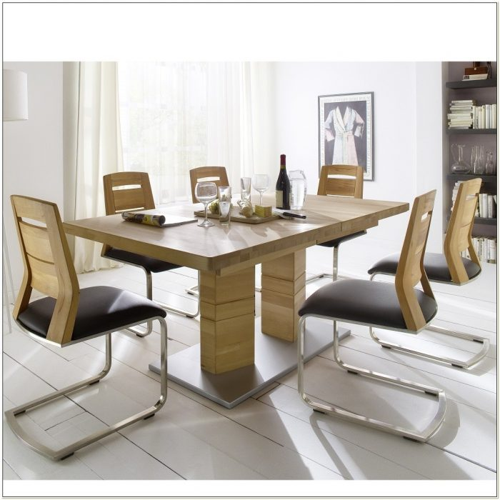 Extendable Kitchen Table And 6 Chairs