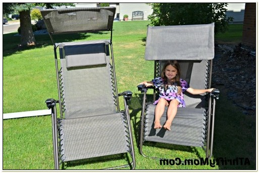 Extra Wide Zero Gravity Chair With Canopy