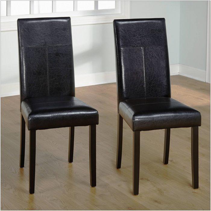 Faux Leather Parson Chair Covers