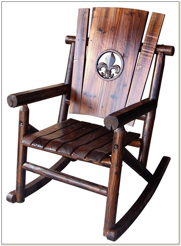 Fleur De Lis Rocking Chair