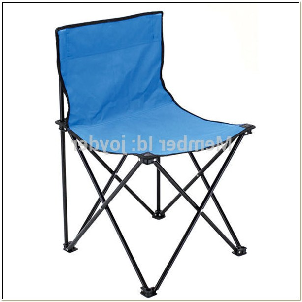 Folding Armless Camping Chairs