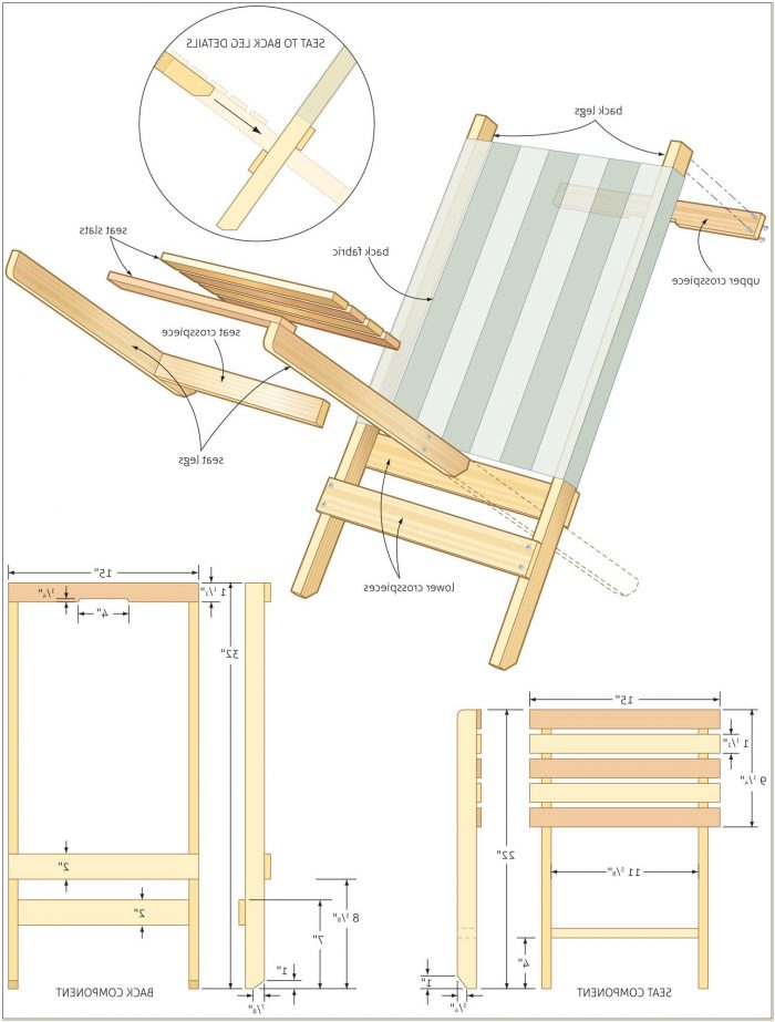 Folding Wooden Lawn Chair Plans