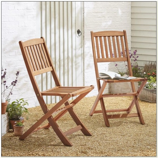 Folding Wooden Patio Chair 2 Pack
