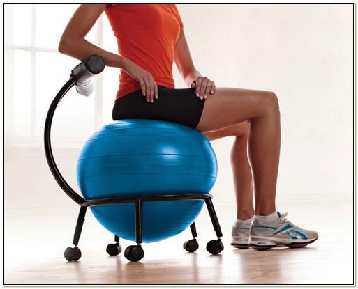 Gaiam Balance Ball Chair Ergonomic Sitting