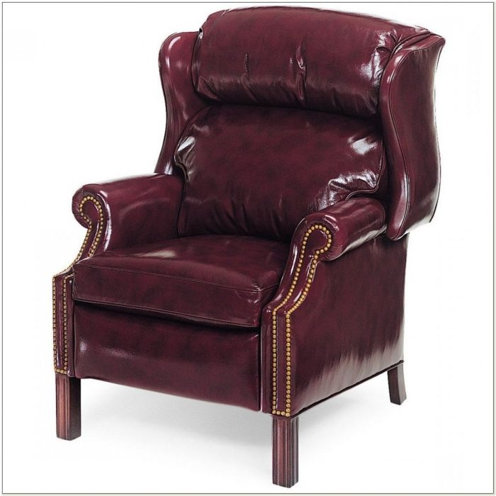 Hancock And Moore Leather Wingback Chair