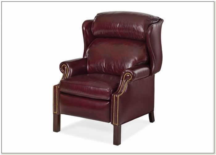 Hancock Moore Leather Wingback Chair