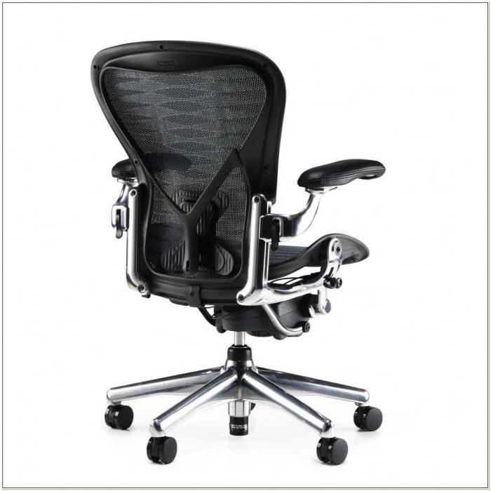 Herman Miller Aeron Polished Aluminium Executive Chair