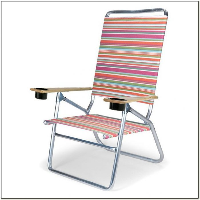 High Boy Beach Chair With Cup Holder
