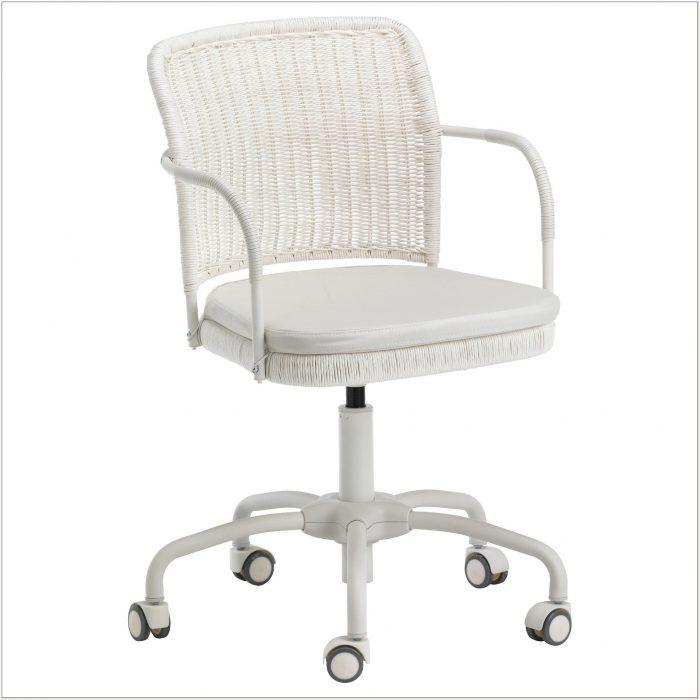 Ikea White Wicker Office Chair