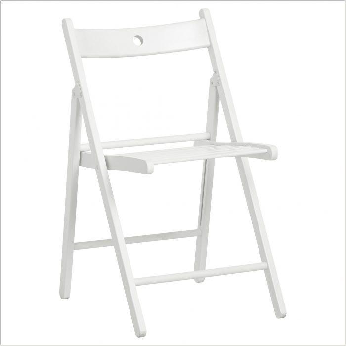 Ikea White Wooden Folding Chairs