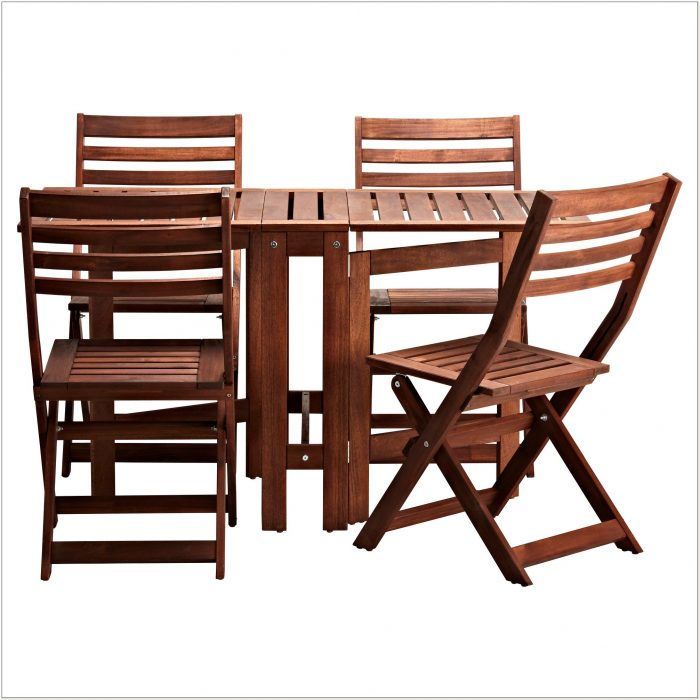 Ikea Wood Outdoor Dining Set