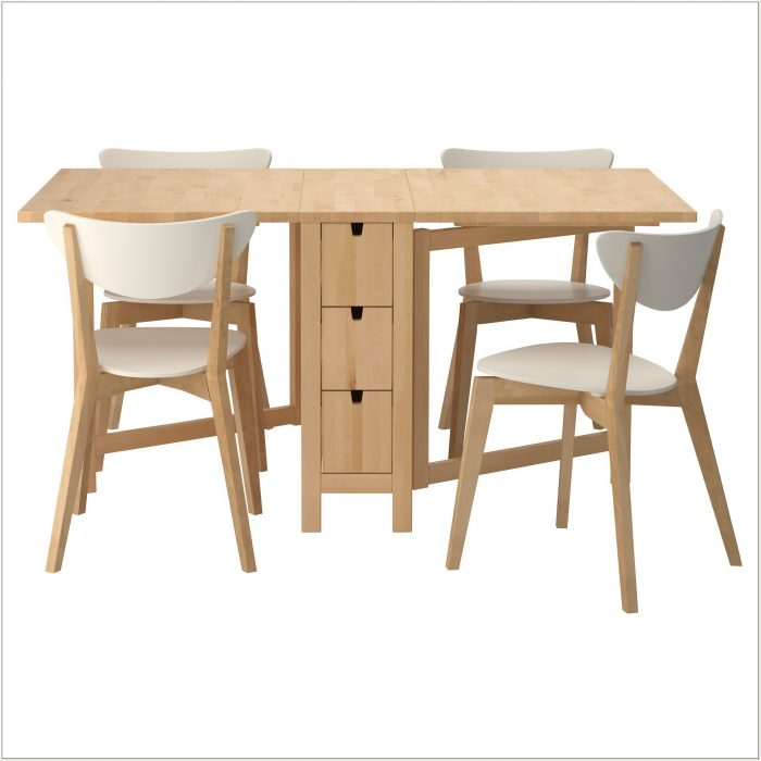 Ikea Wooden Folding Table And Chairs