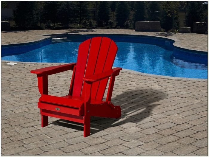 Leisure Line Adirondack Chair Red