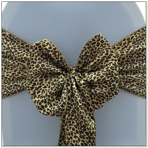 Leopard Print Chair Sashes Uk
