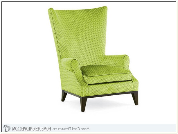 Lime Green Wing Chair