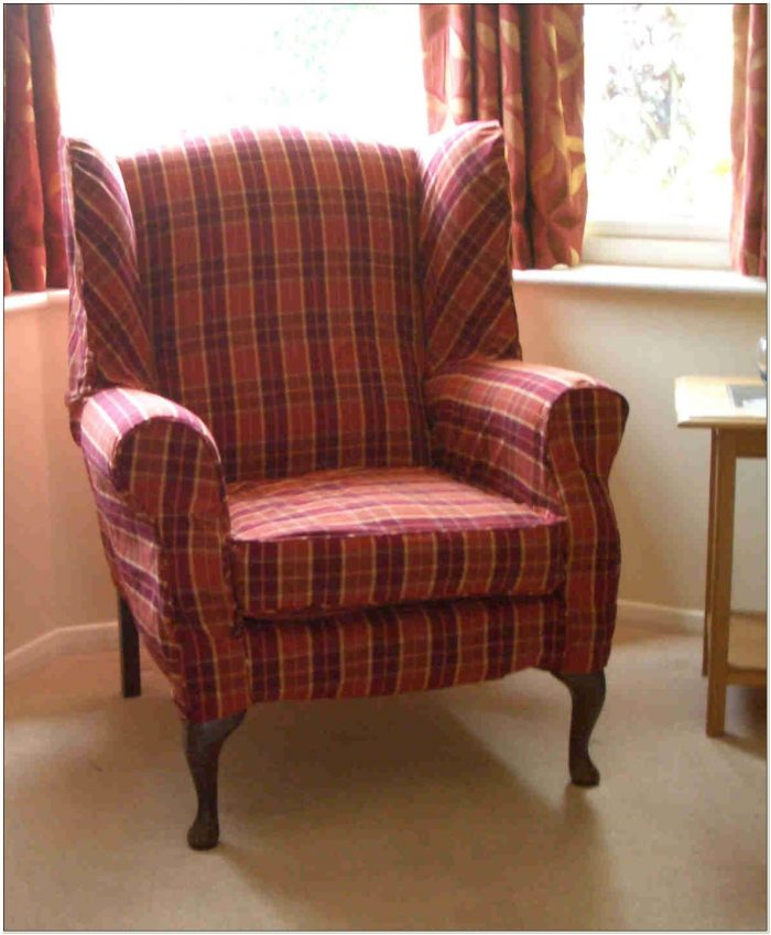 2 Piece Wingback Chair Covers Chairs Home Decorating