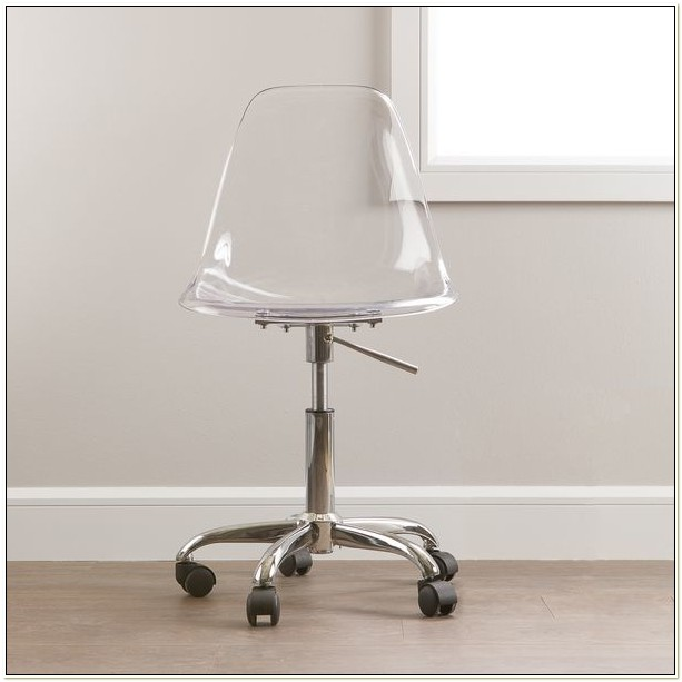 Lucite Desk Chair With Wheels