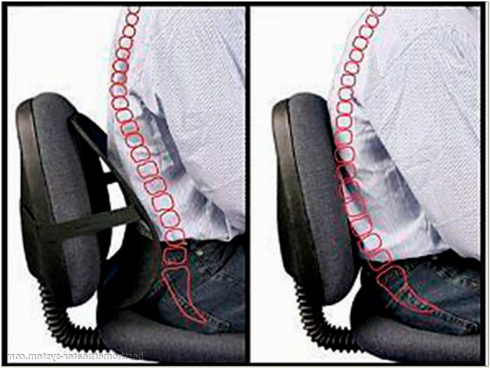 Lumbar Pillow Desk Chair