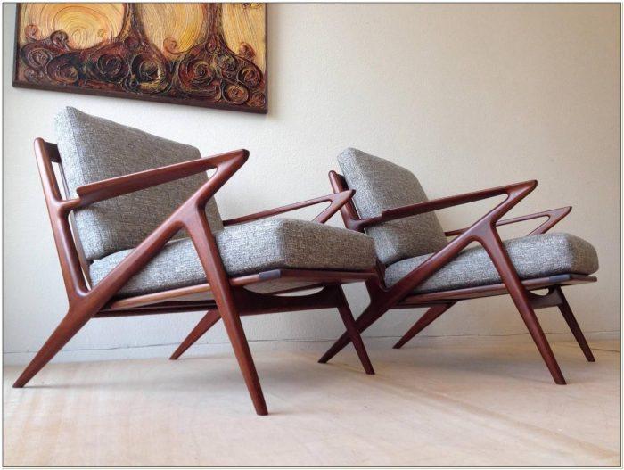 Mid Century Danish Z Chair