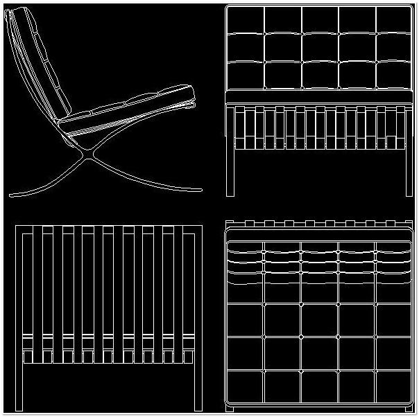 Mies Van Der Rohe Chair Cad