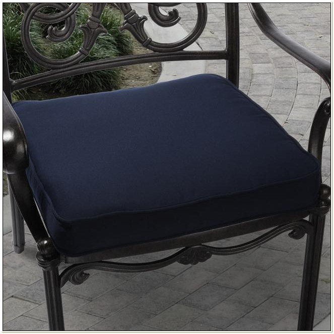 Navy Blue Outdoor Dining Chair Cushions