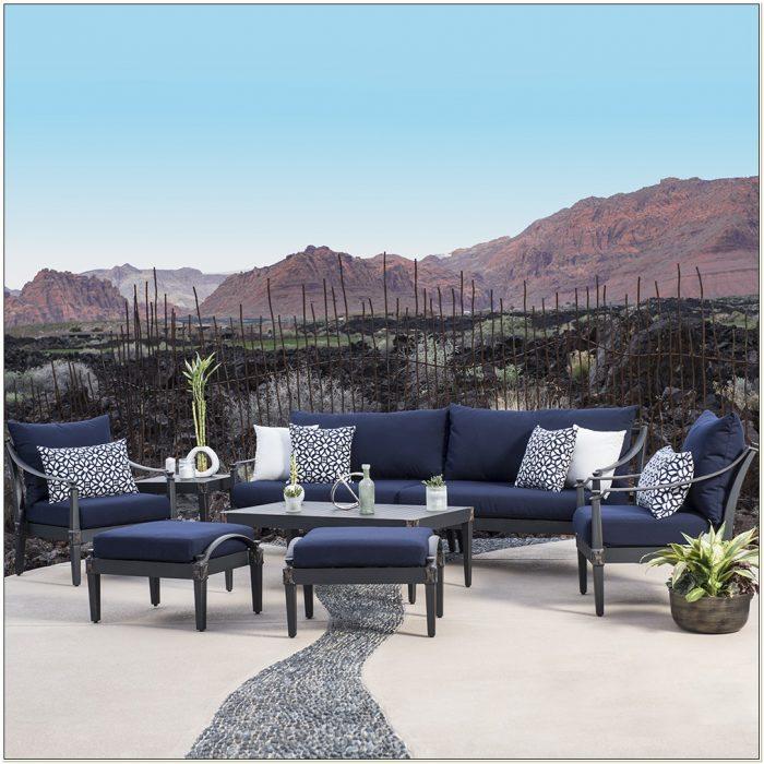 Navy Blue Patio Furniture Cushions