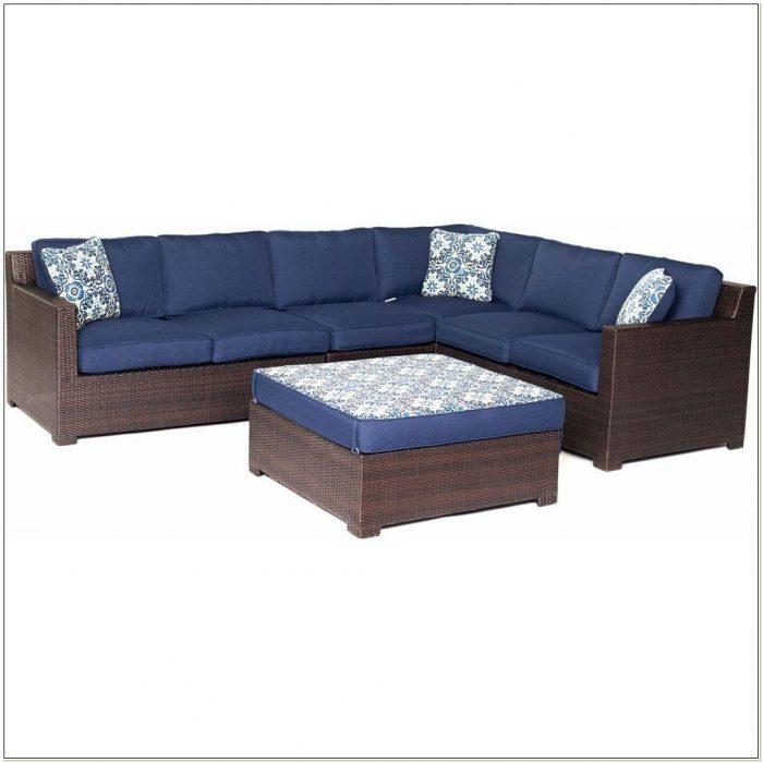 Navy Blue Patio Seat Cushions
