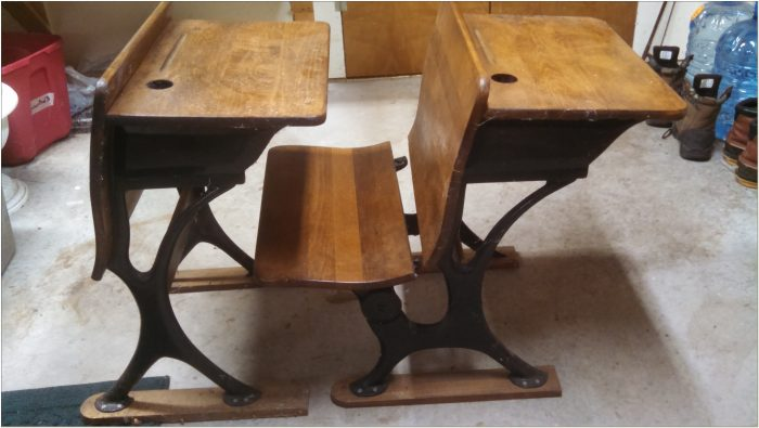 Antique School Desk With Attached Chair Chairs Home