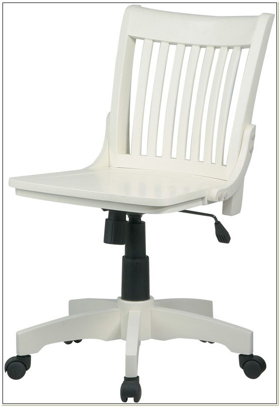 Osp Designs Armless Wood Bankers Chair White