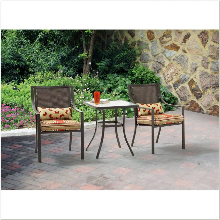 Outdoor Bistro Chair Cushions Square