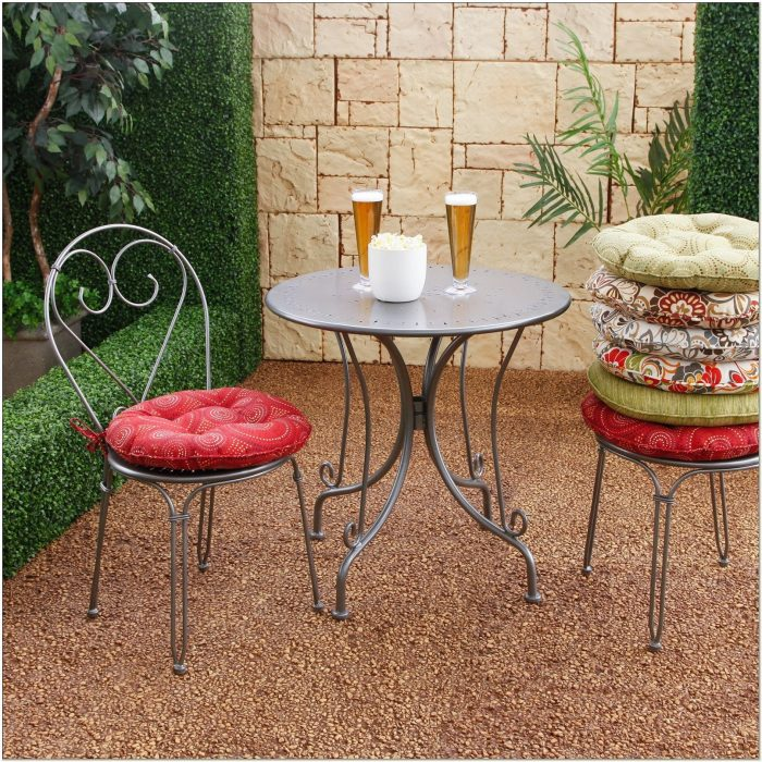 Outdoor Bistro Chair Cushions With Ties