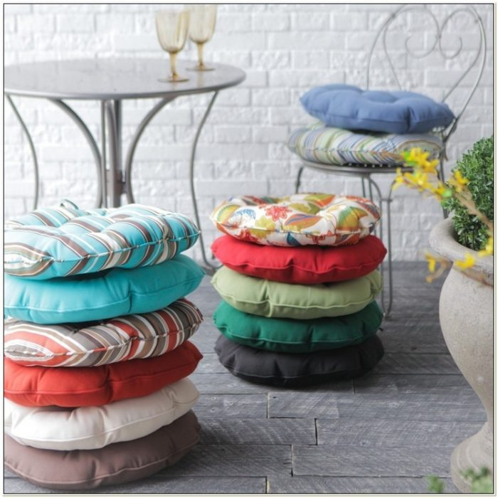 Outdoor Round Bistro Chair Pads