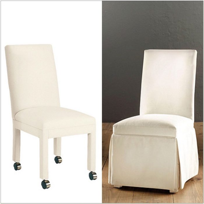 Parsons Chairs With Casters