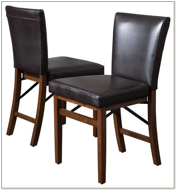 Parsons Faux Leather Folding Chair