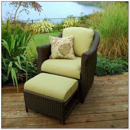 Patio Chair With Hidden Ottoman