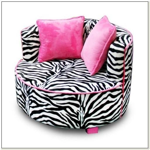 Pink Zebra Bean Bag Chair