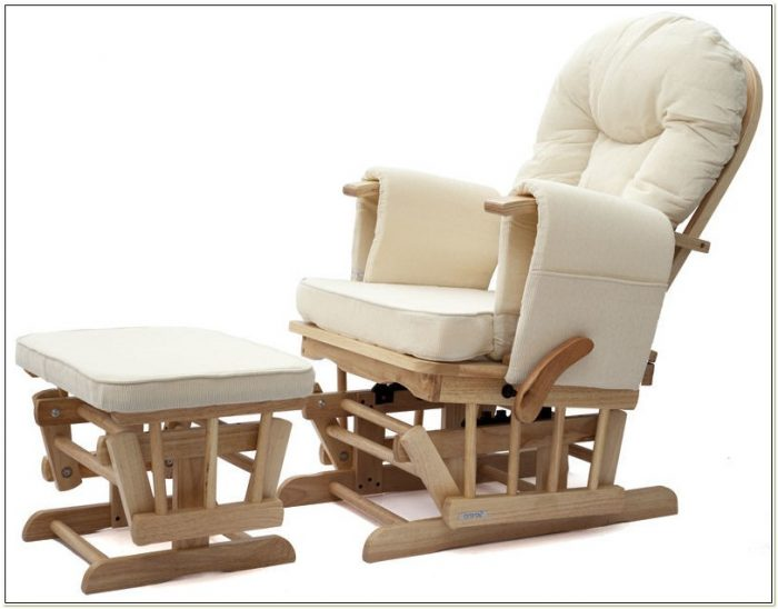 Reclining Glider Rocking Nursery Chair And Footstool