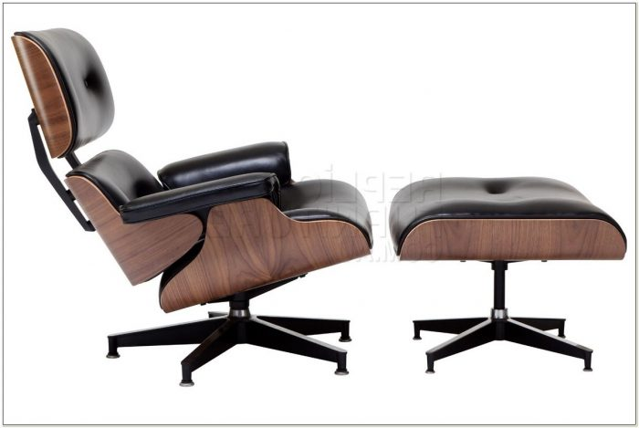 Replica Eames Lounge Chair And Ottoman Black